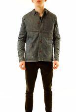 Denham Men's New Indigo Blanket Chore Denim Jacket Size M Blue RRP £219 BCF612