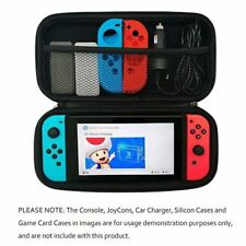 Black Slim Armor EVA Hard Travel Case Cover For Nintendo Switch