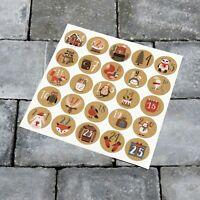 25 x Advent Calendar Stickers -  Christmas Countdown Vinyl Decals - SKU6358