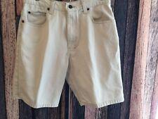 "Cherokee Denim Shorts, SZ 30"" (Tag 32), 8"" Inseam, Lite-Khaki, 100% Cotton"