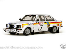 FORD ESCORT MKII RALLY NO7 WRC 1:18 DIECAST MODEL SUPERB CERTIFICATE SUNSTAR