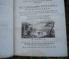 -1787 Cours d'agriculture théorique, pratique, économique & de médecine rurale..