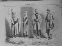 1860 1880 1925 Costumes Syrians Palace Beit El Din General Sarrail 3 Newspapers