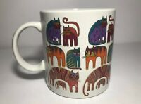 Vintage Laurel Burch Coffee Mug Fantastic Felines 1988