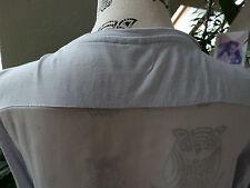 tolles graues Blusen Shirt mit durchsichtigem Rücken von S. Oliver, Gr. M