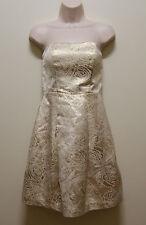 PORTMANS DRESS GOLD BEIGE COCKTAIL DRESS, Sz 8 (#669)