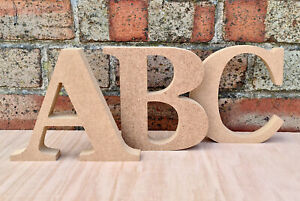 Free Standing Letters & Numbers Georgia Bold Wooden MDF 100mm x 18mm Thick