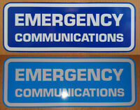 EMERGENCY COMMUNICATIONS DECAL STICKER BLUE REFLECTIVE & WHITE HAM AMATEUR RADIO