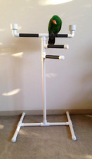 Parrot Play Gym bird perch triple tower stand with food and water dish (black)