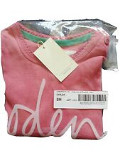 Mini Boden Girls Pink Long Sleeved Rosebud T-shirt, Size 2-3 Years BNWT