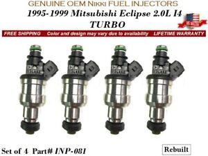 4 Fuel Injectors OEM Nikki for 1995-1999 Mitsubishi Eclipse 2.0L I4 TURBO