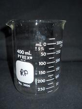 Corning Pyrex Glass 400mL Low Form Dual Scale Std. Duty Griffin Beaker, 1000