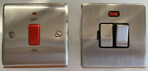 2 Chrome Switches For Shower Or Cooker, Used
