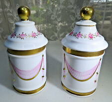 2 Vintage Porcelain Bathroom Accessories Set roses shabby chic 6'' Nice 23/467