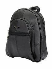 LORENZ Small Leather Zip Round Backpack Day Bag Day Sack Rucksack Capacity 4 -