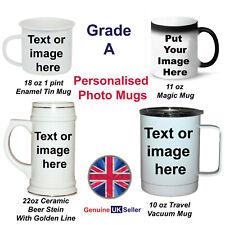 More details for personalised mug, photo mug, custom design your own mug, text image logo gift
