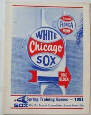 Rare 1981 Chicago White Sox Spring Training Program Baines Hoyt Lemon