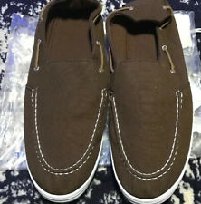 NEW MENS Memory Foam Loafer Shoes Size 11 Brown Slip On Deck Look GREAT