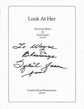 """Sybil Jason Signed Sheet Music """"Look at Her"""" Words and Music by Sybil Jason"""