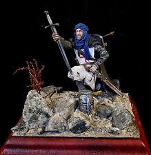 Zinnfigur Templer auf dem Schlachtfeld 75 mm vom Profikünstler bemalt!!!