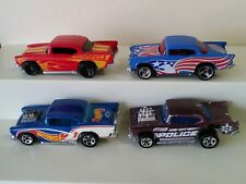 Lot of 4 HOT WHEELS '57 CHEVY ALL DIFFERENT- 1 COLOR SHIFTERS 1/64 DIECAST CARS