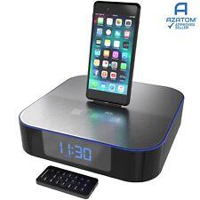 iPhone Radio Alarm Docking Station Speaker iPad iPod Bluetooth MoreAudio Nox
