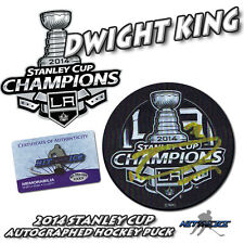 DWIGHT KING Signed 2014 LA KINGS CUP CHAMPIONS Puck w/COA