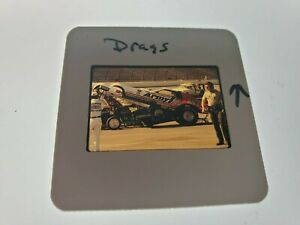 1970s DRAG STRIP DRAG RACING COLOR SLIDE OF DON PRUDHOMME ARMY FUNNY CAR LOT #10