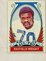 1972 TOPPS Football RAYFIELD WRIGHT T  RARE! DALLAS COWBOYS HIGH NUMBER   #316