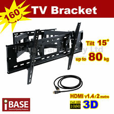 HDMI LCD LED PLASMA TV WALL MOUNT BRACKET SWIVEL 37 42 46 50 52 60 62 63 64 65
