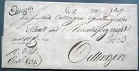 Vorphilatelie Altdeutschland Bayern, Brief von Ellingen 1829