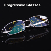 Metal Frames Progressive Glasses Varifocal Lens Spectacles Reading and Distance