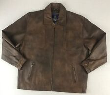 Browning Gold Genuine Leather Jacket Hunting Outdoors Buckmark Men's XL (11A3)