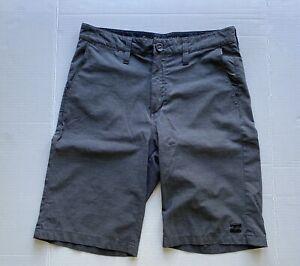 Billabong submersibles board shorts dark gray boys sz 27 (14-16)