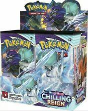 Pokemon Chilling Reign Booster Box-Novo em folha e lacrado! pré-encomenda envio rápido!
