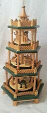 Vintage (Richard Glaesser) Christmas Tree Wood Nativity- Pyramid Carved Figures