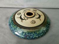 Mid Century Signed Studio Art Pottery Oill Lamp / Vase Stag Deer