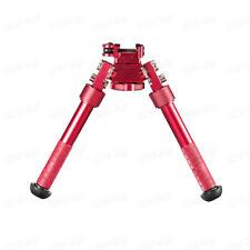 "Red 4.75""-9"" Optical QD RIS Rail Mount Foldable Adjustable Rifle Bipod Mount"