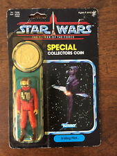 STAR WARS POWER OF THE FORCE FIGURINE B-WING PILOT BLISTER COLLECTOR COIN 1984