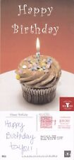 2007 HAPPY BIRTHDAY CUP CAKE COLOUR ADVERTISING POSTCARD