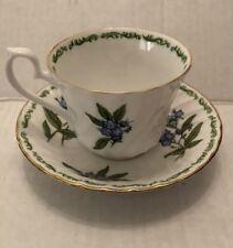 Hudson Middleton Fine Bone China Tea Cup & Saucer w/ Spring Floral Pattern Exc!!