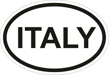 ITALY COUNTRY CODE OVAL VINYL STICKER bumper decal ITALIA International CAR
