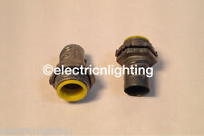 "FLEX CONNECTORS screw-in w/ insulated throat 3/4""-Pack of 35 electrical fittings"