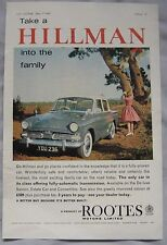 1961 Hillman Original advert No.1