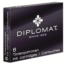 Diplomat Ink Cartridges Black 6 Pack