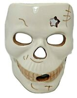 Skeleton Skull Mask Votive Tealight Candle Holder Ceramic Halloween Home Decor