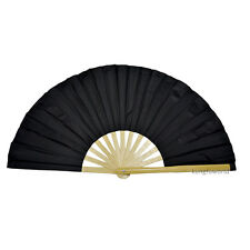 Pure Color Bamboo Tai chi Fan Martial arts Kung fu Taiji Training Equipment