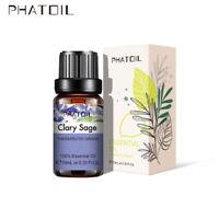 PHATOIL 100ML Clary Sage Pure Aromathérapie Huiles Essentielles Bio Avec Boite