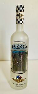 """Rare 2014 Fuzzy's Vodka Limited Edition Indy 500 """"Checkered Flag"""" Empty Bottle"""