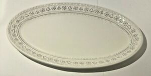 Hallmark Small DECORATIVE PLATTER FOR COOKIES OR DONUTS CHRISTMAS SNOWY WHITE